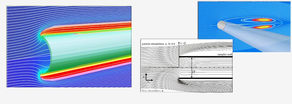Simulations of aerosol sampling