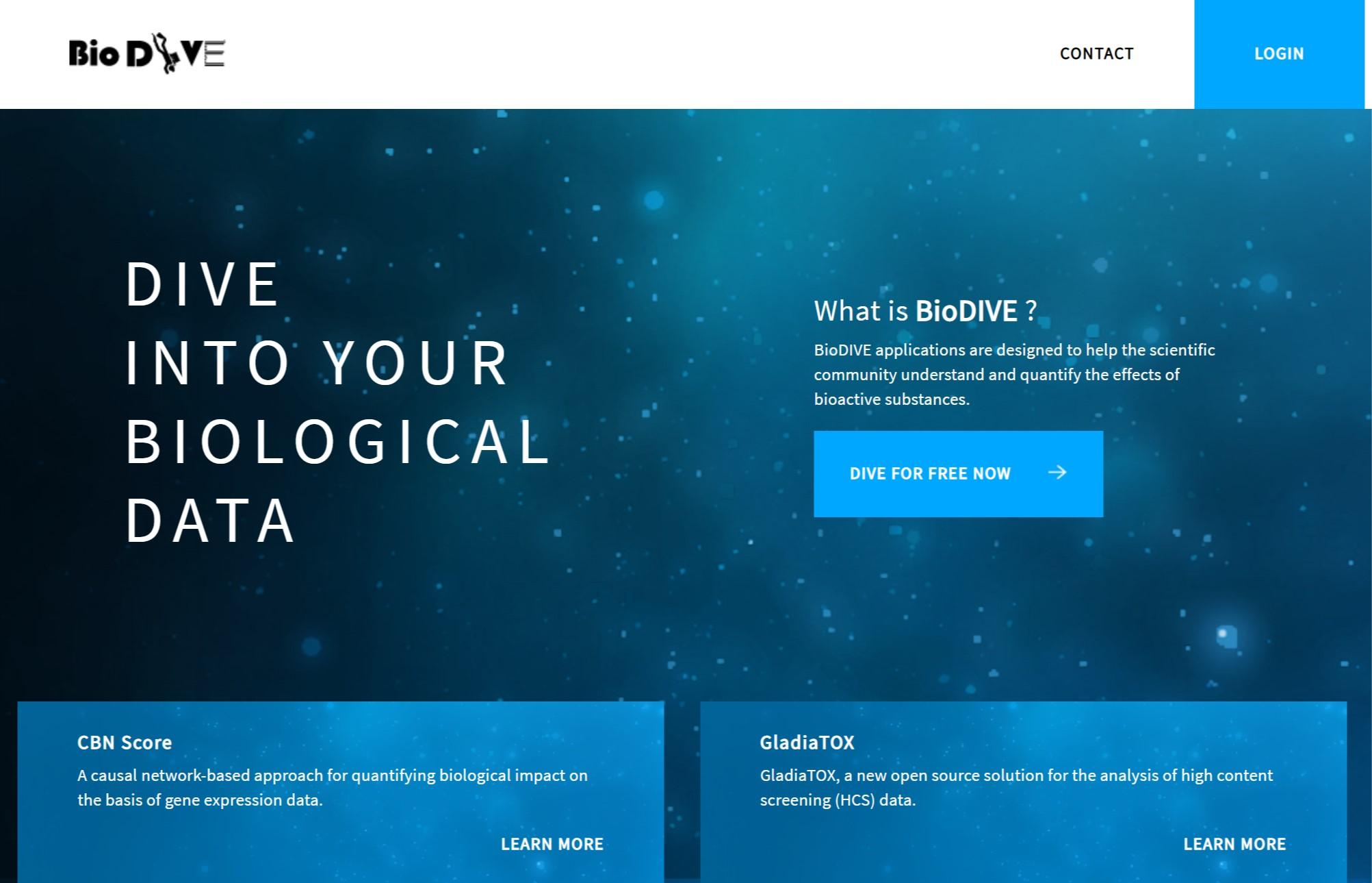BioDIVE landing page