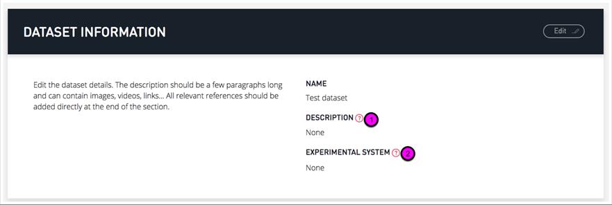 Dataset creation